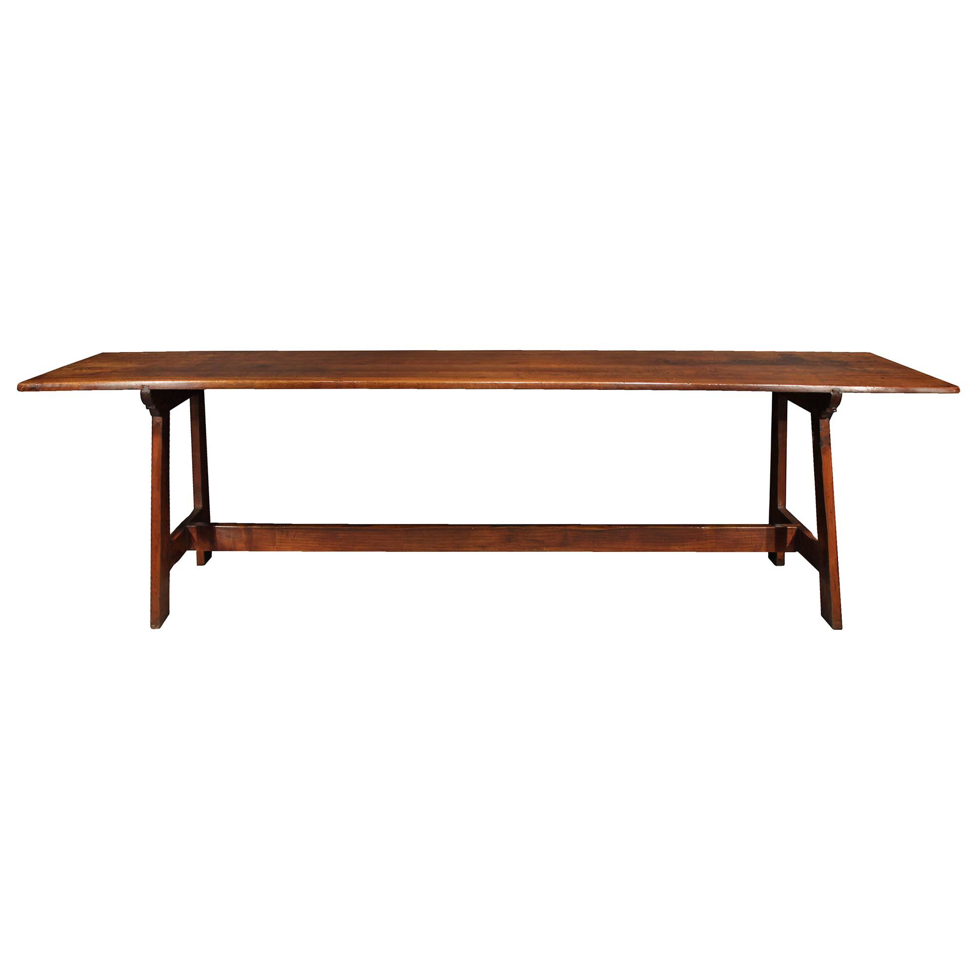 Home / Furniture / Tables / Dining Tables / French 18th Century Walnut Trestle  Table