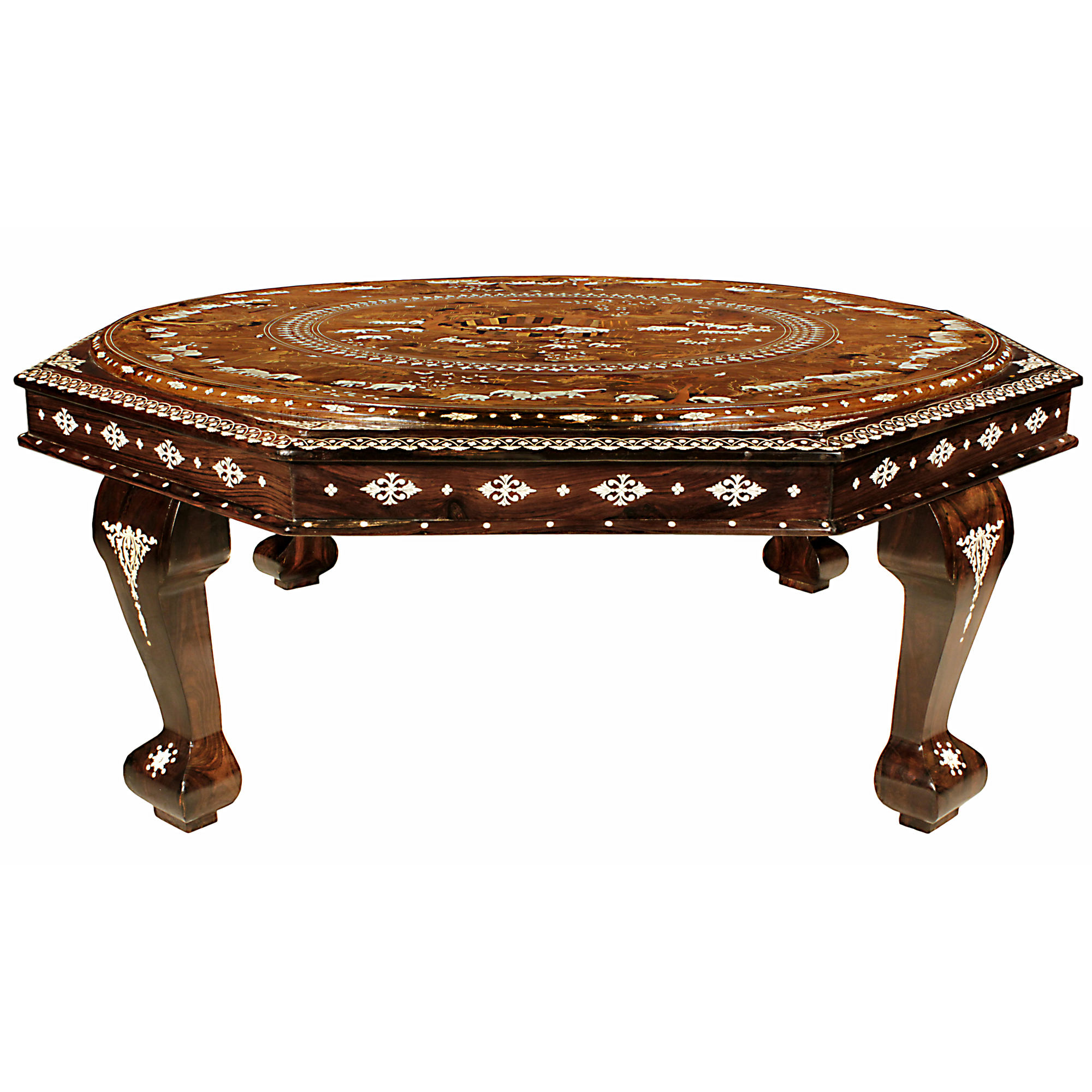 - 19th Century Anglo-Indian Octagon Coffee Table - Cedric DuPont