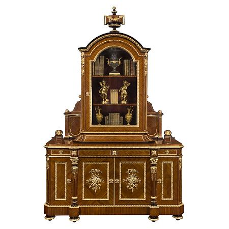 A French 19th century Louis XVI st. Belle Époque Period cabinet signed Grohé.