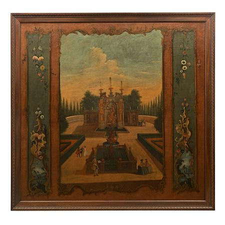 A Continental 18th century oil on canvas painting