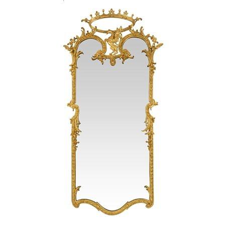 An Italian 19th century Louis XIV st. giltwood mirror