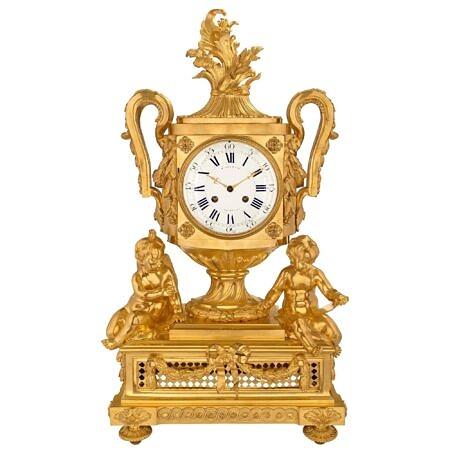 A French 19th century Louis XVI st. ormolu clock signed Cheuret à Marseilles