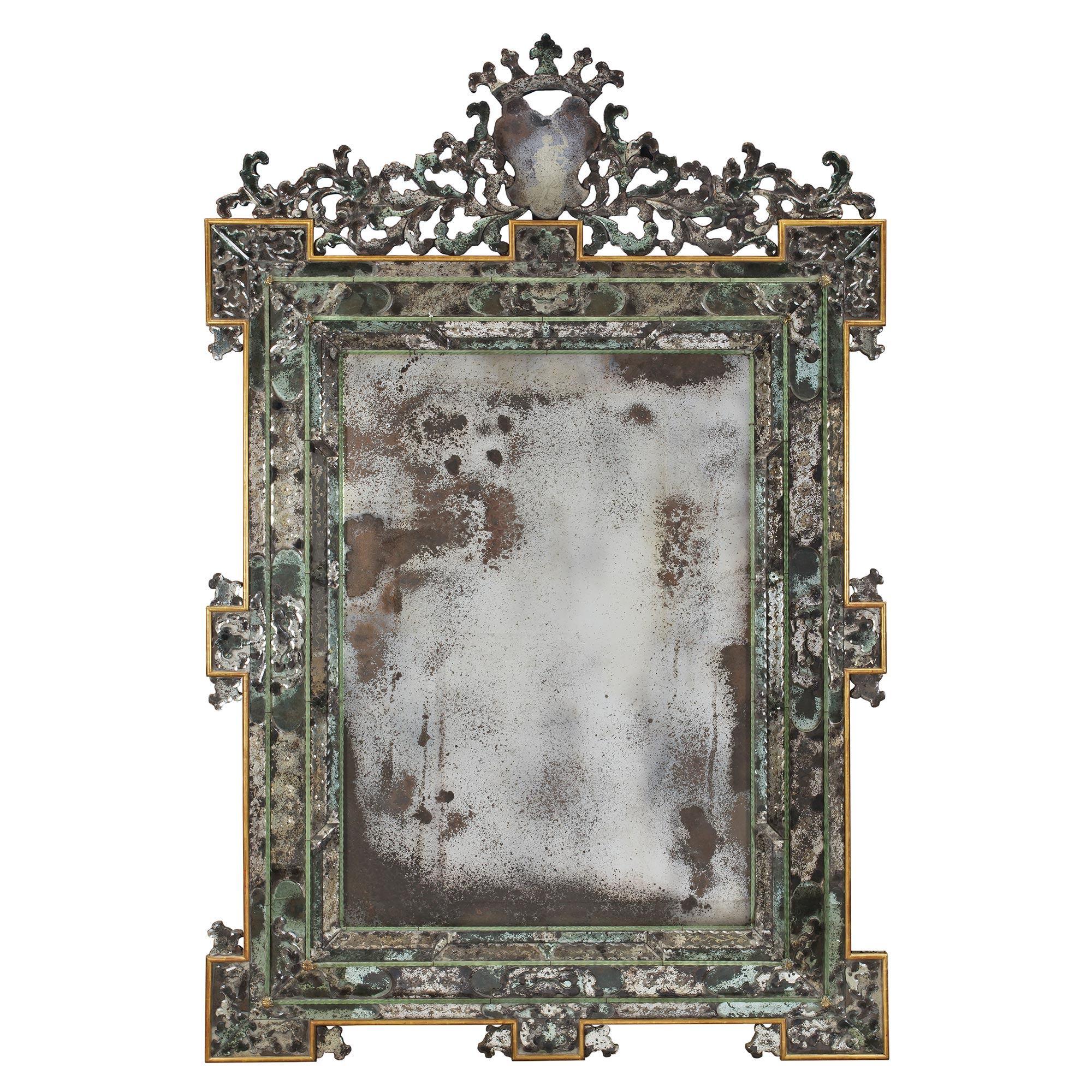 An Italian 19th Century Louis Xiv St Venetian Mirror Cedric Dupont Antiques
