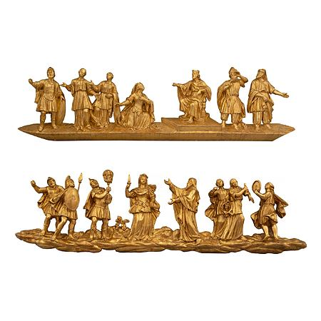 Venetian early 18th century carved giltwood wall decor