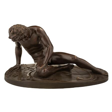 An Italian 19th century patinated  statue of 'The Dying Gaul'
