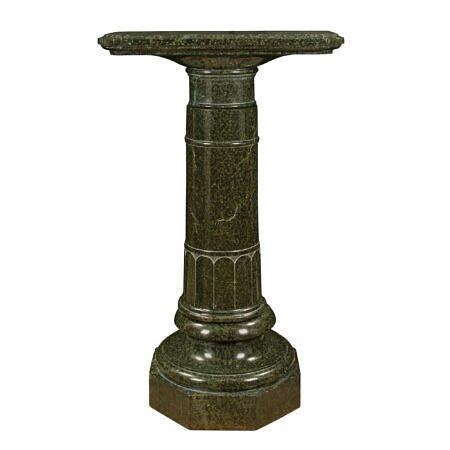 An Italian 19th century Louis XVI st. Vert de Patricia marble pedestal