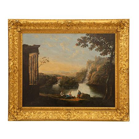 A Welsh 18th century oil on canvas by Richard Wilson