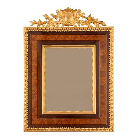 A French 19th century Louis XVI st. kingwood and ormolu picture frame