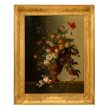 An Italian 19th century Neo-Classical st. oil on canvas painting in its original frame