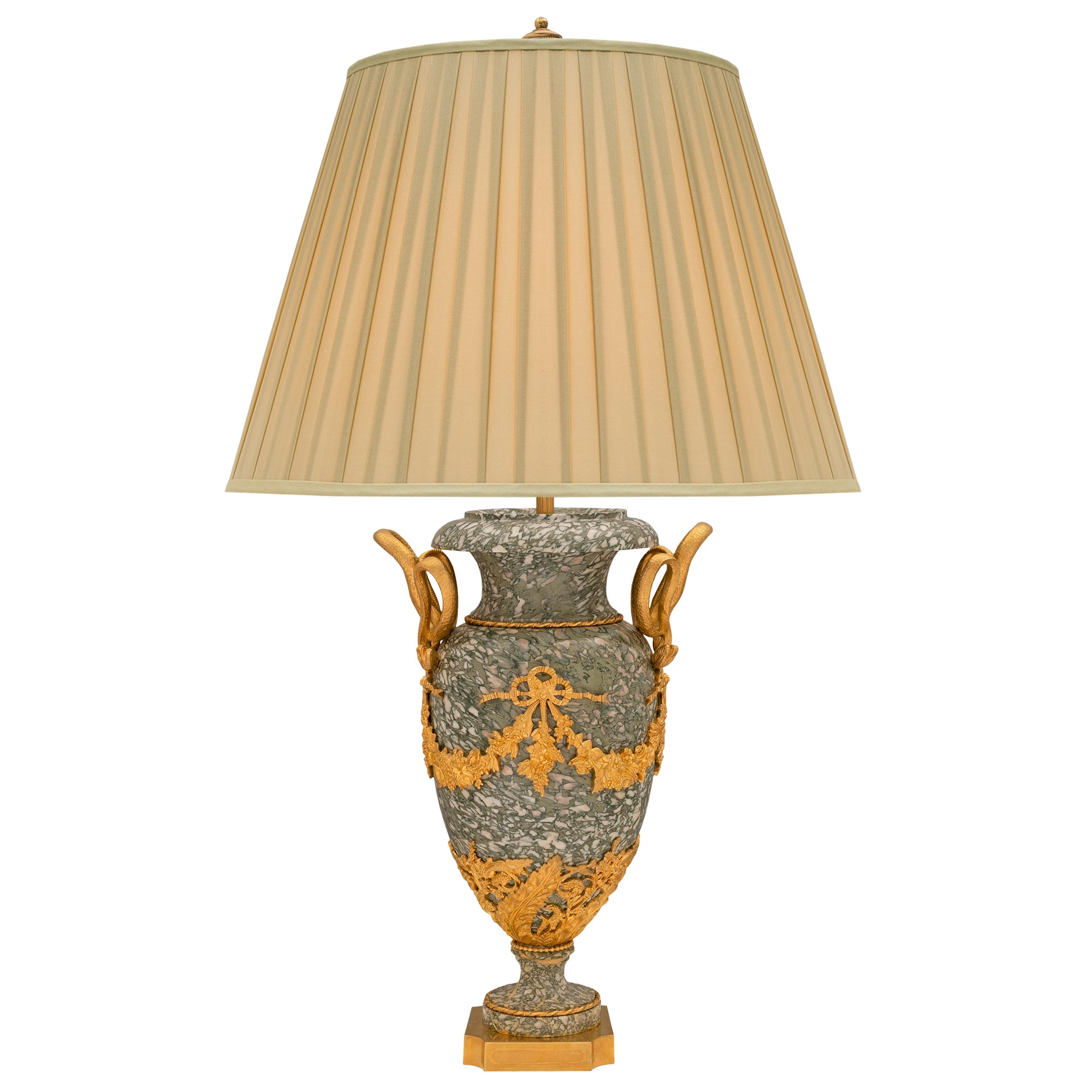 A French 19th Century Louis Xvi St Vert Campan Marble And Ormolu Lamp Cedric Dupont Antiques